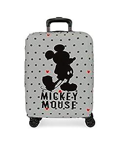 Disney Funda para Maleta de Cabina Mickey Gris