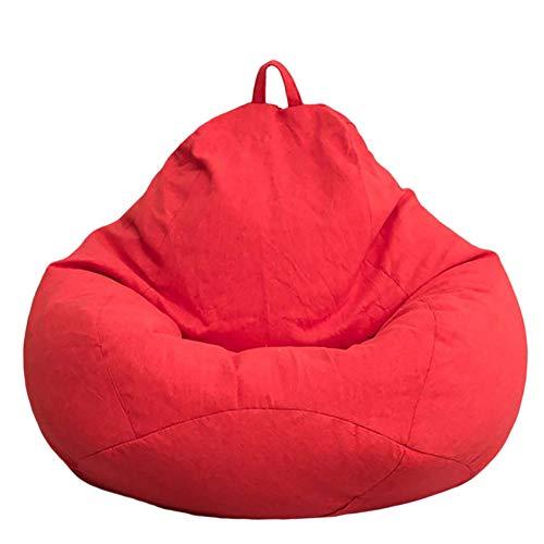 Kylewo Pouf pour Enfants et Adultes - Couvre Sac de Haricots sans Rembourrage pour oreillers Peluches Couvertures