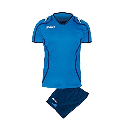 Zeus Herren Volleyball Set Trikot Hose Shirt Shorts Indoor Handball Training Ausbildung KIT Volley Uomo FAUNO BLAU ROYAL (M)