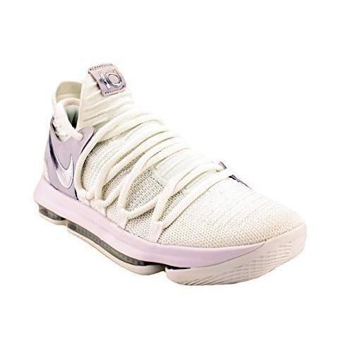 974e6b428b799 Nike Zoom KD 10 White Chrome Pure Platinum Men s Basketball Shoes Size 10