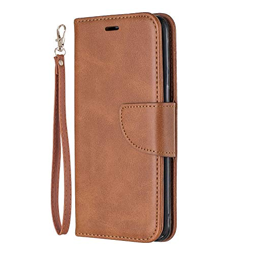Lomogo Galaxy S8 / G950 Hülle Leder, Schutzhülle Brieftasche mit Kartenfach Klappbar Magnetverschluss Stoßfest Kratzfest Handyhülle Case für Samsung Galaxy S8 - LOBFE150210 Braun
