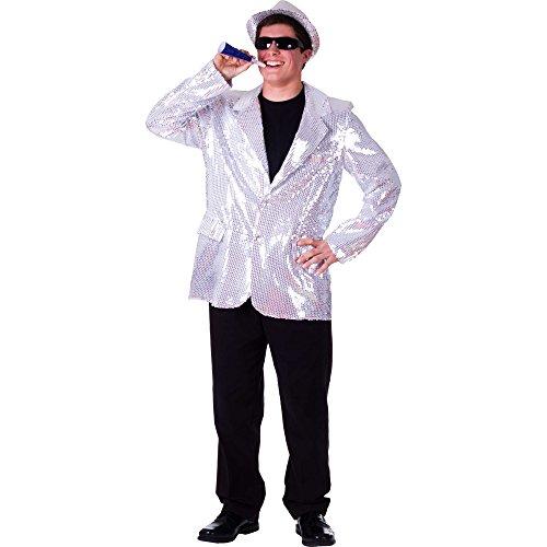 Dress Up America Veste à paillettes argentée entièrement doublée pour adulte