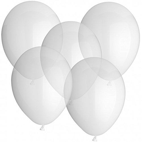 ballon boutique Villingen 25 Luftballons 30cm Durchmesser Transparent