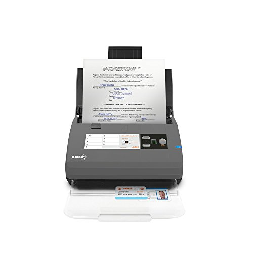 Ambir ImageScan Pro 830ix 30ppm High-Speed ADF Scanner with Nuance Power PDF Software (DS830IX-NP)