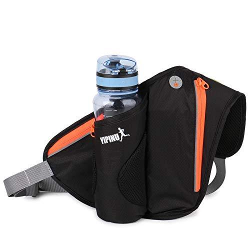 Civsde Sport Hüfttasche, Bauchtasche mit Flaschenhalter Handyfach, Gürteltasche für Outdoor Camping Ausflug Jogging Wandern Laufen