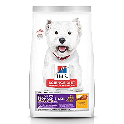 Hill's Science Diet Adult Sensitive Stomach and Skin, Small Bites Dry Dog Food, Chicken Recipe, 4 lb Bag