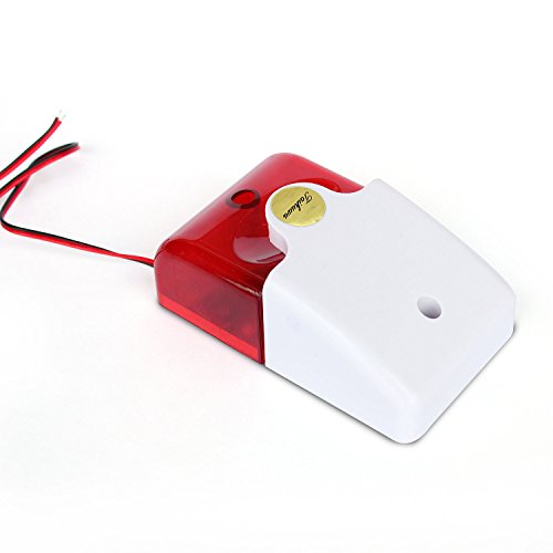 Taikuwu Wired Lampeggiante Luce Strobe Siren Sound Alarm Sistema di Sicurezza Domestica Luce Sirena per Casa/Azienda/Comunità/Magazzino 12 V, 105 dB