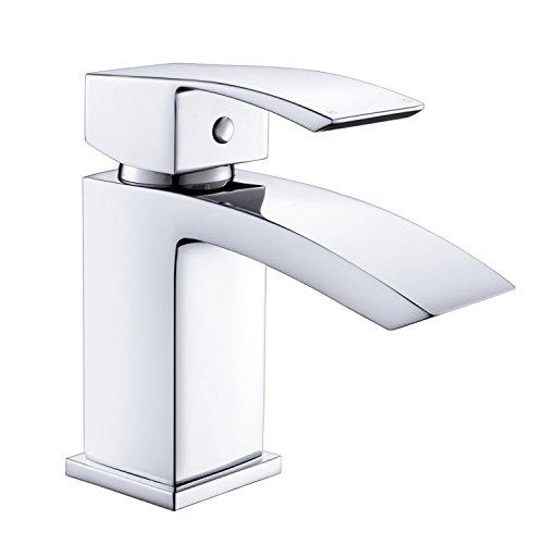 Grifo de lavabo mezclador monobloque de latón cromado de UUhome