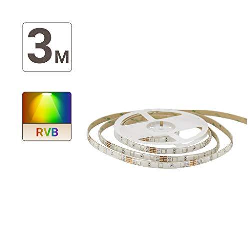 Ruban led - Rubans à led - Bande led - Bande à led - Ruban led de 3 mètres - Bande led RVB - Kit de ruban LED - RVB - Digital - LSBK3RVBD Xanlite