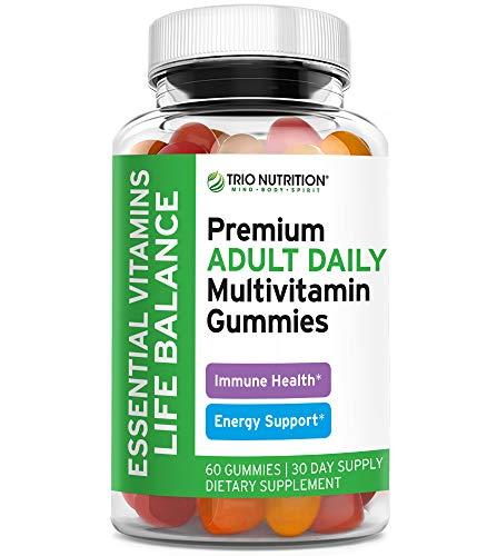 Premium Essential Multivitamin with Vitamins C & Zinc for Immune & Energy Support | Delicious Complete Daily Vitamin Gummy for Men & Women | Non-GMO, Pectin, Animal Free, Allergen Free, Gluten Free*