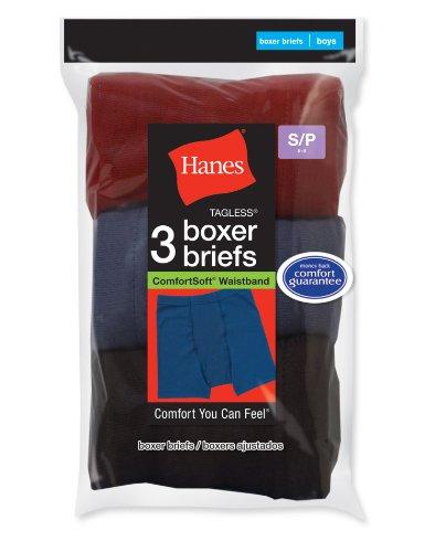 Hanes Boy 's 5 Stück ComfortSoft Boxer Brief - Farben können variieren Einheitsgröße Verschiedene Streifen