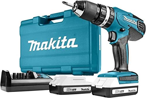 Makita HP457DWE10 Combi drill accessories with carry case