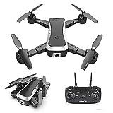 4K Professionl Drones, 1080P HD GPS RC Quadrocopter Mini Bolsillo Drone Auto Hover Modo, una tecla Despegue/Aterrizaje, Control de Aplicaciones