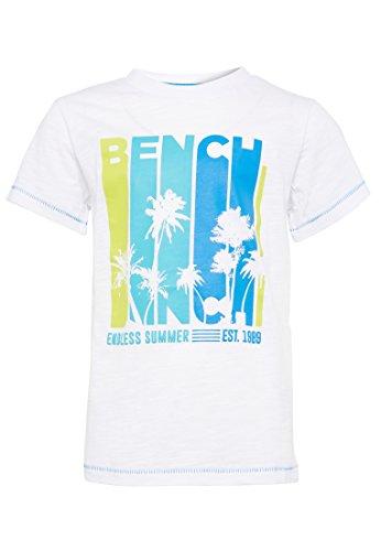 Bench Jungen Palm Tee T-Shirt, Weiß (Bright White Wh11185), 164 (Herstellergröße: 13-14)