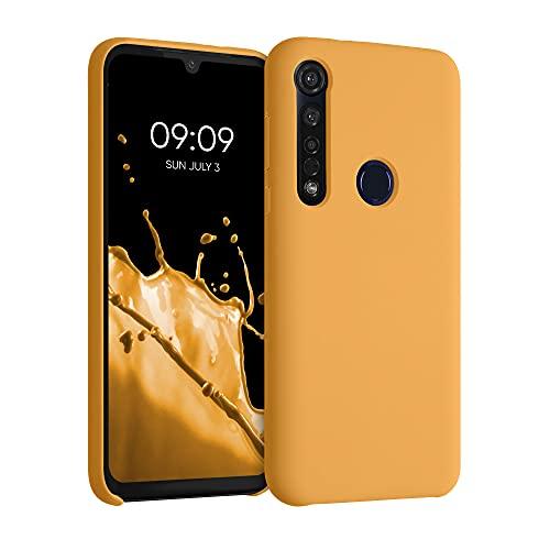 kwmobile Hülle kompatibel mit Motorola Moto G8 Plus - Hülle Silikon gummiert - Handyhülle - Handy Hülle in Marigold