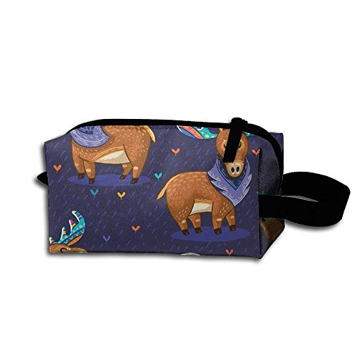 Travel Makeup Rainbow Moose Beautiful Waterproof Cosmetic Bag Quick Makeup Bag Pencil Case