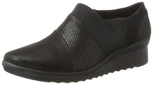 Clarks 261293684, Zapatos sin Cordones Mujer, Negro (Black), 37 EU