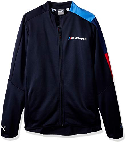 PUMA Mens BMW Motorsport T7 Track Jacket Sweatshirt F Team Blue Medium