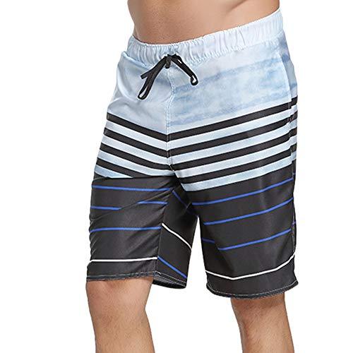Zyangg-Home Zwembroek voor heren Sneldrogende strandbroek voor heren Zomer Losse Print Vijf punten Platte hoek Beach Trunks Sneldrogende Hot Spring Zwembroek Hawaiiaanse Shorts Sneldrogende Shorts