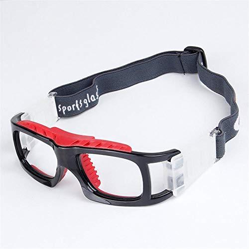 Clarashop Sportbrillen für Herren und Damen PC Sonnenbrille Basketball Fußball Schutzbrillen Schützend Anti-Fog Brillen für High Impact Sports