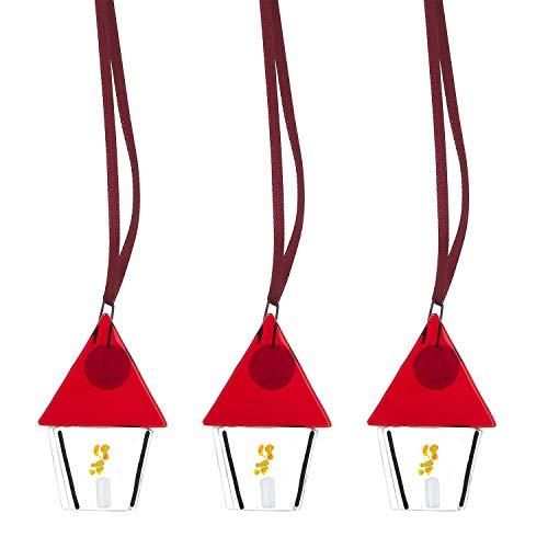 NIELGAARD | Weihnachtliche Laternen aus Glas | Dänische Christbaum-Anhänger | Handgemachte Weihnachtsdekoration | 3 STK.