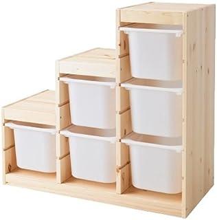IKEA(イケア) TROFAST 収納コンビネーション パイン材 ホワイト