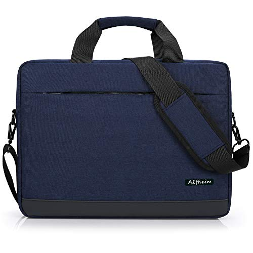 Alfheim - Laptop Bag 15.6-16 Inch,Messenger & Shoulder Bags for Men Women, Waterproof Briefcase,Handbag Fit for 15.6 Inch Laptop,Lightweight Notebook Bag,for Student/Business/Commute/Travel(Blue)