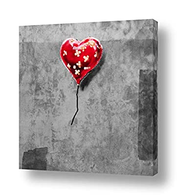 Alonline Art - Life Is Beautiful by Banksy | Framed picture poster | Ready to hang frame | Printed on canvas by Alonline Art Studio