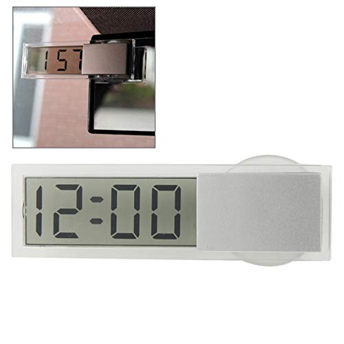 Preisvergleich Produktbild Wecker Shishanshan K-033 Mini-Auto-elektronisches Auto Taktgeber-Digital-transparenten LCD-Anzeigen mit Sauger
