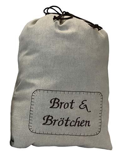 """Textil FreWe Brotbeutel in verschiedenen Größen, Öko-Tex 100, groß """"Brot & Brötchen"""" für ca. 15 Brötchen"""