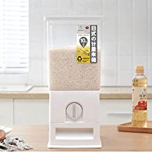 Rice Dispenser Rice Box Storage - Farochy Rice Food Storage Container Measurable Dispenser Rice Bucket Measuring Rice Barrel 22 Lbs