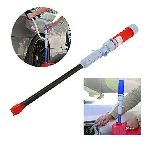 OurLeeme Kraftstoff-Flüssigkeits-Wasserpumpenpumpe, automatische elektrische biegsame Saugpumpe batteriebetrieben (rot)