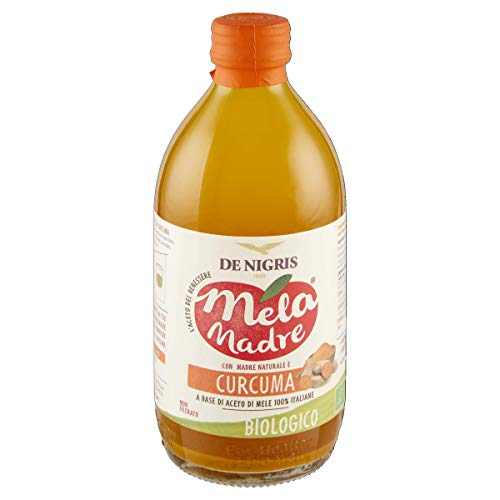 Aceto Di Mele Italiane Bio Non Filtrato 'Melamadre' Con Madre Naturale E Curcuma | De Nigris 1889 - 500 ml