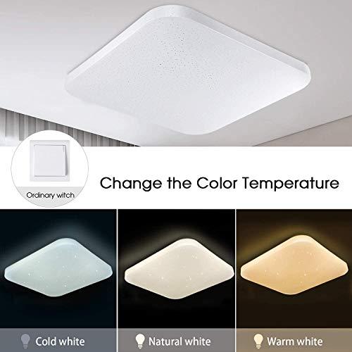 YHYGOO Dimmbare LED-Deckenleuchten Badezimmer Küche Schlafzimmer Wohnzimmer Esszimmer Decke LED-Leuchten Korridor Flur Deckenleuchten Moderne quadratische Wasserdicht