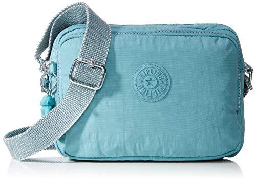 Kipling Silen, Bolso con Bandolera para Mujer, Azul (Aqua Frost), 24x18x11 centimeters (B x H x T)