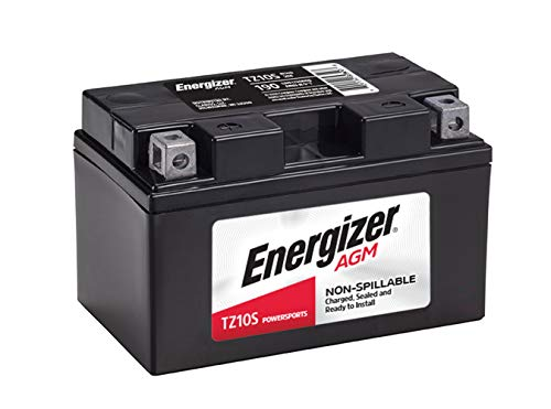 Energizer TZ10S AGM Motorcycle and ATV 12V Battery, 190 Cold Cranking Amps and 8.6 Ahr. Replaces: YTZ10S and others