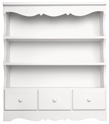 Sylvester Oxford Ltd - Vetrinetta da parete, misura piccola, colore: bianco