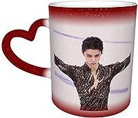 変色カップ 羽生結弦 マグカップ コーヒーカップ 魔法カップ おしゃれ ハート 温度 色が変わることできる カップ 陶瓷器 ガラス カップ 大容量 レストラン用 可愛 人気ギフト 贈り物