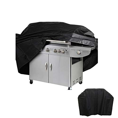 JS-YHLUSI Black Grill Cover Sunscreen Waterproof Furniture Dust Guard Protective Cover, Suitable For Outdoor Garden Patio, 210D Oxford Cloth,170 * 61 * 117Cm
