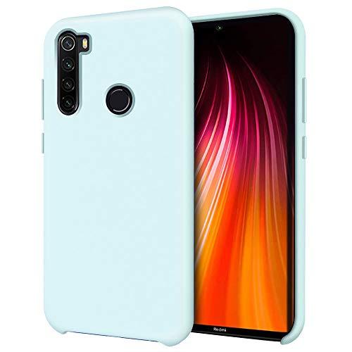 Oureidoo Funda para Xiaomi Redmi Note 8T, Funda para Silicona Líquida con [Tacto Agradable] [Protección contra Caídas] [Anti-Arañazos] para Xiaomi Redmi Note 8T 6.3'-Azul Claro