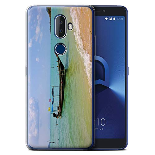 eSwish Gel TPU Phone Case / Cover for Alcatel 3V 2018 / Boat/Coast Design / Thailand Scenery Collection -  MR-ALC3V-GC-MP-THAI-BOATCOAST
