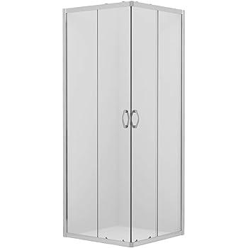 Mampara de Ducha Angular cabina de ducha mampara de ducha cuadrada Puerta Corredera Cristal 5 MM perfilería gris mate 90x70cm: Amazon.es: Bricolaje y herramientas