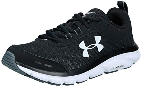 Under Armour Women's Charged Assert 8 Running Shoe, Black (001)/White, 7.5