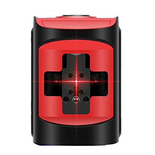 LANTELSHANO Nivel De Láser Rojo, Haz Nivel De Impulsos De Cruz De Dos Líneas con Nivelación Automática IP54 Agua Y Al Polvo Adecuados para Uso En Interiores Y Al Aire Libre