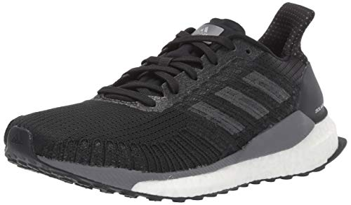 adidas Women's Solar Boost 19 W Running Shoe, Black/Carbon/Grey, 8.5