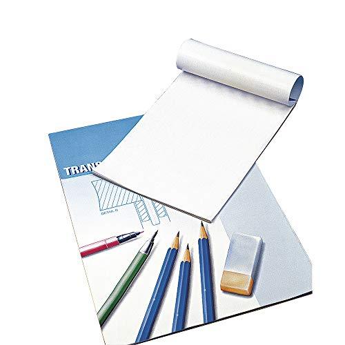 Rayher 8147800 Transparentpapier, 80 g/m2, Block 25 Blatt, A4, Pauspap
