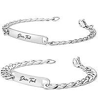 BAVELA | Personalisierbare Armbänder | Edelstahl Armband mit Wunschgravur | Partnerarmband für Paare | Pärchen Armband