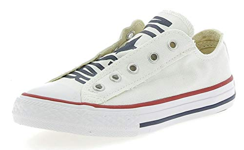 Converse - Chuck Taylor All Star Core Ox, Sneaker Unisex – Bambini, Bianco, 24