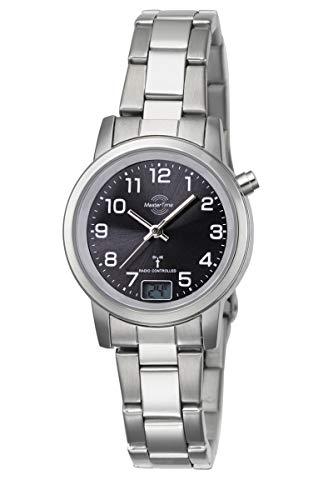 Master Time Funk Quarz Damen Uhr Analog-Digital mit Edelstahl Armband MTLA-10695-21M