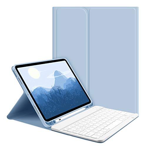 GOOJODOQ Custodia Tastiera per iPad Air 4, Custodia con Tastiera per iPad Air 4 10.9